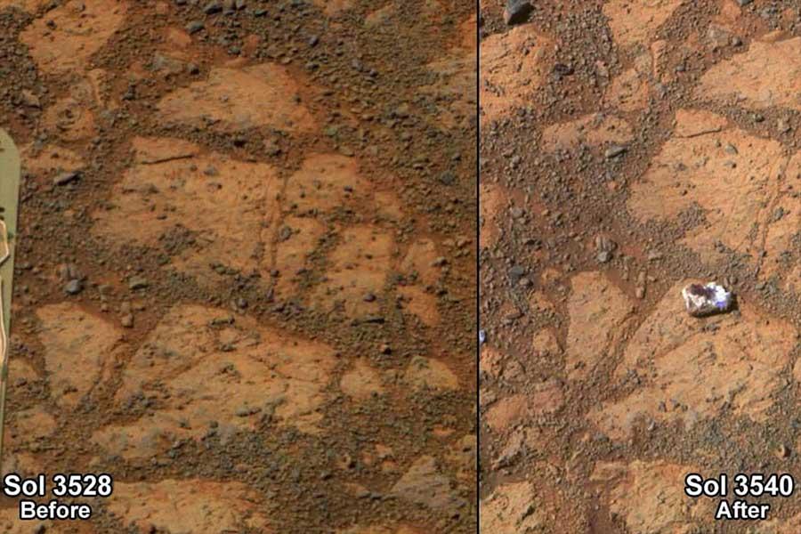মঙ্গল থেকে অপরচুনিটি রোভার-এর পাঠানো একটি অবিশ্বাস্য ছবি